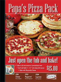 pizza fundraiser with Papas Pizza, courtesy of www.profitable-fundraising-ideas.com