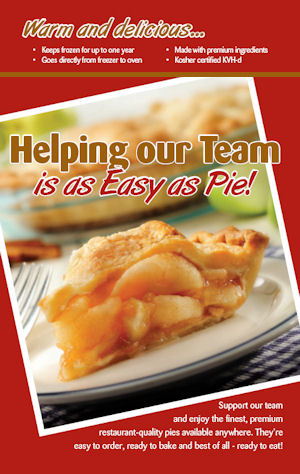 Chef Pierre pie fundraiser brochure