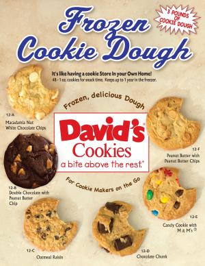 new Davids  cookie dough brochure